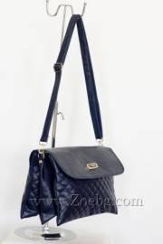 Дамска чанта син цвят с пет самостоятелни отделеня  785605