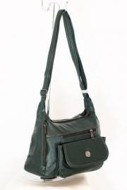 Дамска чанта в зелено за през рамо 9152527