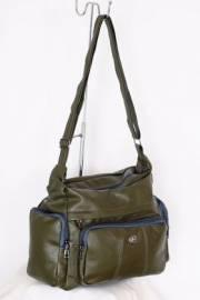 Дамска чанта в зелено за през рамо 9152540