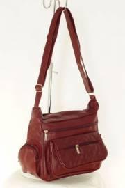 Дамска чанта цвят бордо 9152581