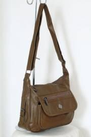 Дамска чанта цвят каки 9152583