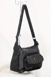 Дамска чанта черен цвят през рамо 9152616