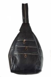 Дамска раница естествена кожа в черно 9152625