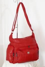 Дамска чанта за през рамо в червено 9152634
