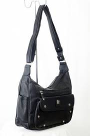 Дамска чанта черен цвят с прегради 9152752