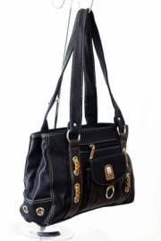 Дамска чанта в черно и кафяво 9152767
