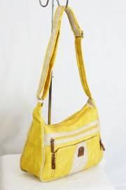 Дамска чанта в жълто и бежово 9152800