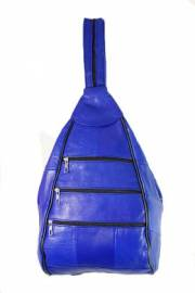 Дамска раница естествена кожа в синьо 9152819