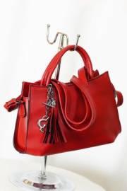 Дамска чанта в червено за през рамо 9152901