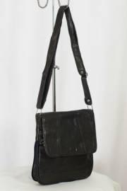 Дамска чанта тъмно кафява естествена кожа 9152904