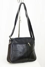 Дамска чанта в черно естествена кожа 9152906