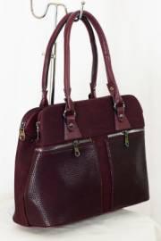 Дамска чанта в бордо 9153190