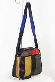 Дамска чанта шарена от естествена кожа 9153904