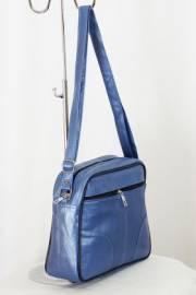 Дамска чанта в синьо от естествена кожа 9153909