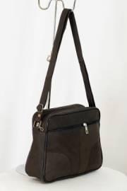 Дамска чанта в кафяво от естествена кожа 9153910