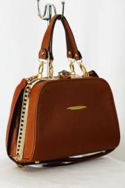 Дамска чанта-куфарче в кафяво 9153258