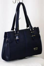 Дамска чанта в синьо с лак 9153270