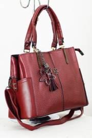 Дамска чанта в бордо 9153325