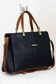 Дамска чанта в черно и кафяво 9153341