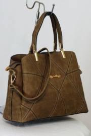 Дамска чанта цвят каки 9153350