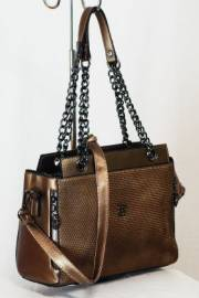 Дамска чанта цвят старо злато 9153352