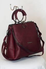 Дамска чанта в бордо 9153385