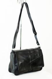 Дамска чанта от естествена кожа в черно 9153425