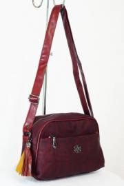 Дамска чанта в бордо 9153435