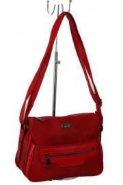 Дамска чанта с прегради цвят червена 9153452