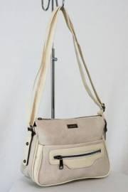 Дамска чанта с прегради цвят бежов 9153453