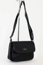Дамска чанта с прегради цвят черна 9153463