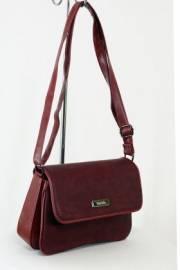 Дамска чанта с прегради цвят бордо 9153464
