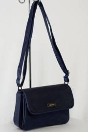 Дамска чанта с прегради цвят тъмно син 9153465