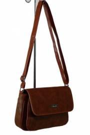 Дамска чанта с прегради цвят кафяв 9153466