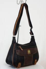 Дамска чанта с прегради цвят кафяв 9153485