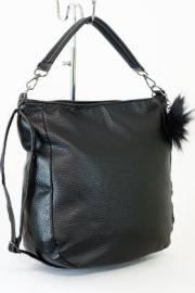 Дамска чанта с прегради цвят черен 9153493