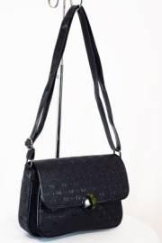 Дамска чанта с прегради черен цвят  9153497