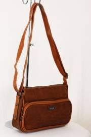 Дамска чанта кафяв цвят  9153516