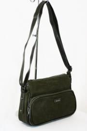 Дамска чанта тъмно зелен цвят  9153519