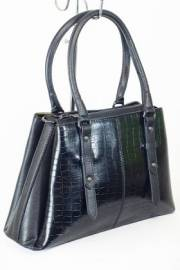 Дамска чанта с прегради черен цвят  9153520