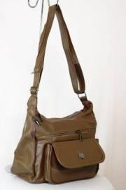 Дамска чанта с прегради цвят каки 9153535