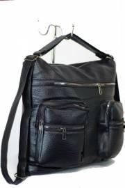 Дамска чанта-раница в черен цвят 9153560