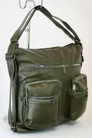 Дамска чанта-раница в зелен цвят 9153561