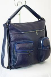 Дамска чанта-раница в син цвят 9153562