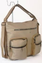Дамска чанта-раница в бежов цвят  9153563