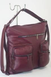 Дамска чанта-раница в цвят бордо 9153564