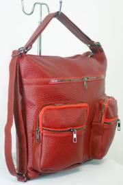Дамска чанта-раница в червен цвят 9153565