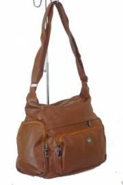 Дамска чанта в кафяво за през рамо 9153566