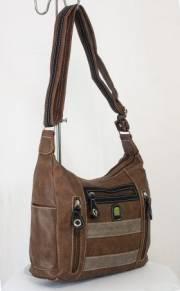 Дамска чанта кафяв цвят  9153583