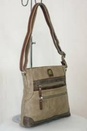 Дамска чанта цвят каки 9153585